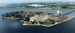 Ellis Island courtesy of National Park Service. areal view